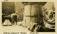 Lower Baker River dam construction 1925-08-16 Steel Draft Tube