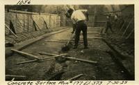 Lower Baker River dam construction 1925-07-30 Concrete Surface Run #177 El.373