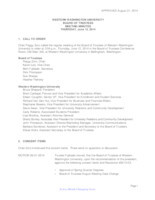 WWU Board of Trustees Minutes: 2014-06-12