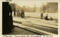 Lower Baker River dam construction 1925-09-22 Placing Concrete for Crickets
