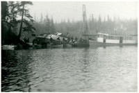 """The steamer """"Marguerite"""" wrecked at Langtree Point, Lake Whatcom"""