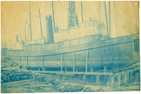 """Tugboat """"Ernest A Hamill"""" under construction for Pacific American Fisheries"""