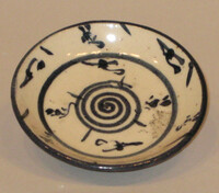 Saucer with blue decoration