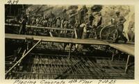 Lower Baker River dam construction 1925-07-10 Placing Concrete 4th Floor