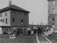 1909 Training School Students Gardening