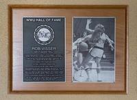 Hall of Fame Plaque: Rob Visser, Basketball, Class of 2011