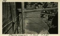 Lower Baker River dam construction 1925-07-03 Placing Concrete N. Wall