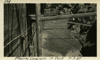 Lower Baker River dam construction 1925-07-03 Placing Concrete N. Wall