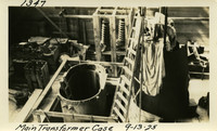 Lower Baker River dam construction 1925-09-13 Main Transformer Case