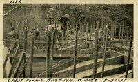 Lower Baker River dam construction 1925-08-20 Crest Forms Run #194 W. Side