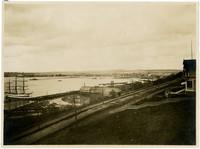 View across Bellingham Bay from hillside above Bellingham Bay Lumber Company