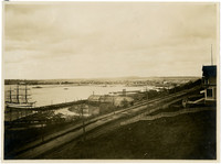 View across Bellingham Bay from hillside above Bellingham Bay Lumber Company