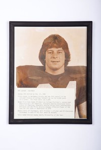 Football Photograph: Pat Locker, Halfback, Jersey #24 retired, honors and records, 1980