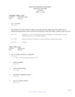 WWU Board of Trustees Packet: 2019-04-04
