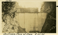 Lower Baker River dam construction 1925-08-26 Upstream Face of Dam