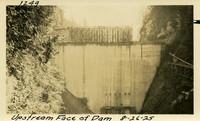 Lower Baker River dam construction 1925-08-26 Upstream Face of Dam