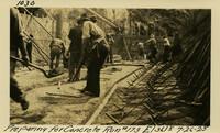 Lower Baker River dam construction 1925-07-26 Preparing for Concrete Run #173 El.3618