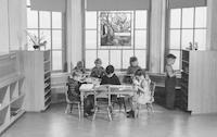 1943 Kindergarten Library Alcove