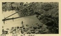 Lower Baker River dam construction 1924-10-16 Base of dam