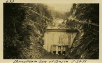Lower Baker River dam construction 1925-05-29 Downstream View of Canyon