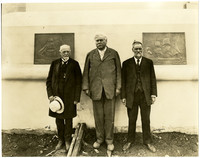 Judge Burke, Sam Hill and Frank Terrace at the site of the International Peace Arch