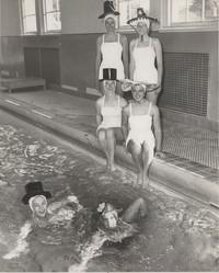 Blue Barnacles Swim Club, Members of the Blue Barnacles Swim Club in Hats