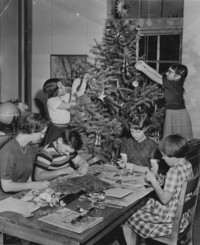 1954 Decorating The Christmas Tree (Third Grade)