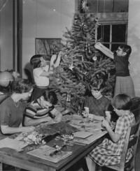 1954 Decorating The Christmas Tree (Third Grade)