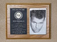 Hall of Fame Plaque: Dick Pangallo, Football (Linebacker and Guard), Class of 1995