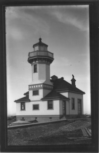 New Ediz Hook Lighthouse, newly constructed.