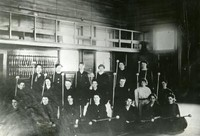 1920 Girls With Batons In Junior High Gymnasium