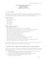 WWU Board of Trustees Minutes: 2015-10-08