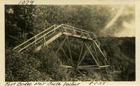 Lower Baker River dam construction 1925-08-01 Foot Bridge over South Incline