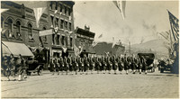 The Shriners marching in the Elks' Parade, Butte, Montana, 1916