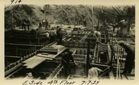 Lower Baker River dam construction 1925-07-07 E. Side 4th Floor
