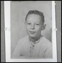 Portrait (possibly a school picture) of young Myer Jay Bornstein