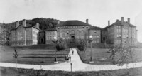 1909 Main Building With Training School Wing At Right