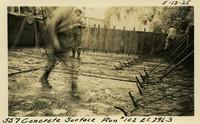 Lower Baker River dam construction 1925-05-13 Concrete Surface Run #102 El.296.3
