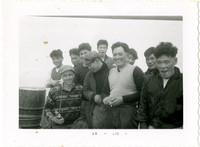 Nine Japanese gillnetter crewmen and Fisheries biologist