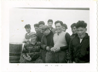 Nine Japanese gillnetter crewmen and Fisheries biologist