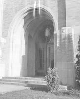 1943 Campus School Building Main Entrance Oblique View