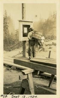 Lower Baker River dam construction 1924-09-13 (notice board) - Construction permit