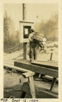 Lower Baker River dam construction 1924-09-13 (notice board) - Construction permit