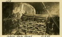 Lower Baker River dam construction 1925-11-06 Intake Gate House