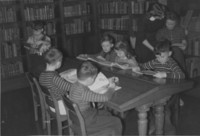 1942 Third Grade In Library With Miss Stevenson (Class 3-B)