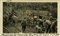 Lower Baker River dam construction 1925-07-23 Preparing for Concrete Run #170 El.3415