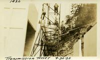 Lower Baker River dam construction 1925-09-30 Transmission Tower