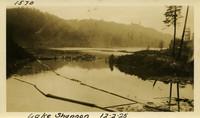 Lower Baker River dam construction 1925-12-02 Lake Shannon (with debris)