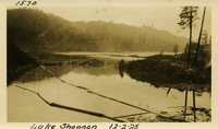 Lower Baker River dam construction 1925-12-02 Lake Shannon (with debris)