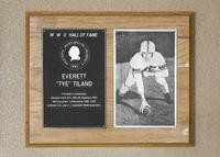 "Hall of Fame Plaque: Everett ""Tye"" Tiland, Football (Linebacker), Class of 1989"